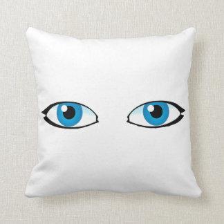 Gesichtsteile - helle blaue Augen Kissen