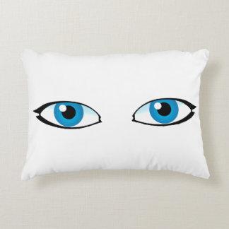 Gesichtsteile - helle blaue Augen Zierkissen
