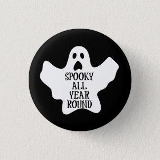 Gespenstisch knöpfen Sie das ganze Jahr hindurch Runder Button 2,5 Cm