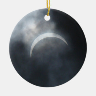 Gespenstische Eklipse-Sturm-Wolken 2017 Keramik Ornament