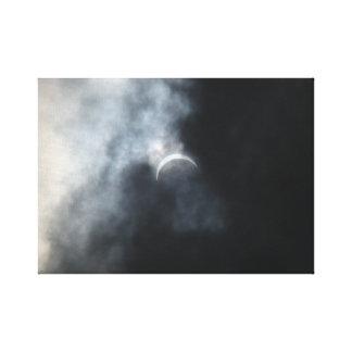 Gespenstische Eklipse-Sturm-Wolken 2017 Leinwanddruck