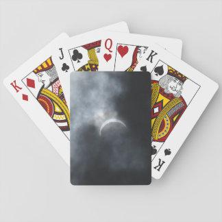 Gespenstische Eklipse-Sturm-Wolken 2017 Spielkarten