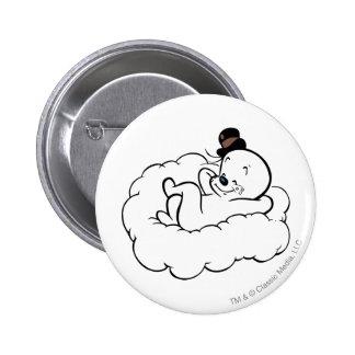 Gespenstische Entspannung auf Wolke Runder Button 5,1 Cm