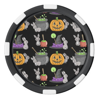 Gespenstische Halloween-Häschen Poker Chips Set