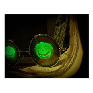 Gespenstische Halloween-Kürbis-Hologramm-Spezifikt Postkarten