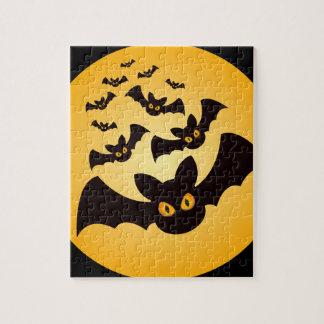 Gespenstische Halloween-Schläger Puzzle