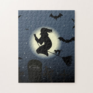 Gespenstische Hexe und Schläger Puzzle