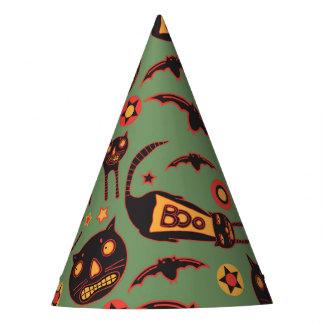 Gespenstische Katzen ganz über Party-Hüten Partyhütchen