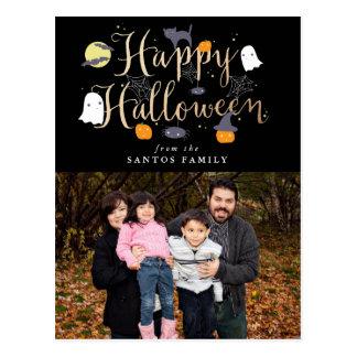 Gespenstische Lebewesen-Halloween-Foto-Postkarte Postkarten