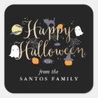 Gespenstische Lebewesen Halloween Quadratischer Aufkleber