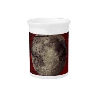 Gespenstische Mond-Halloween-Drucke Getränke Pitcher