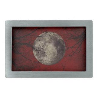 Gespenstische Mond-Halloween-Drucke Rechteckige Gürtelschnallen