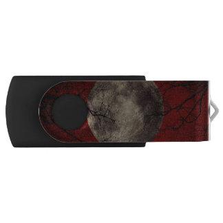 Gespenstische Mond-Halloween-Drucke USB Stick