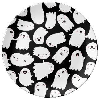 Gespenstische niedliche Halloween-Platte Teller