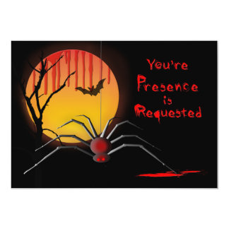 Gespenstische Party Einladung Halloweens -