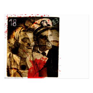 Gespenstische Postkarte