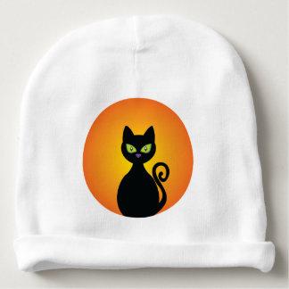 Gespenstische schwarze Katze Halloweens Babymütze