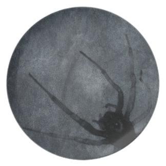 Gespenstische Spinnen-Halloween-Drucke Melaminteller