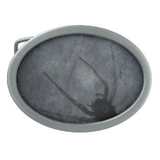 Gespenstische Spinnen-Halloween-Drucke Ovale Gürtelschnallen