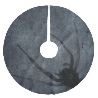 Gespenstische Spinnen-Halloween-Drucke Polyester Weihnachtsbaumdecke