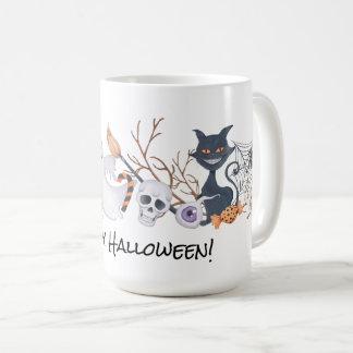 Gespenstische Treffen-Halloween-Tasse   Kaffeetasse