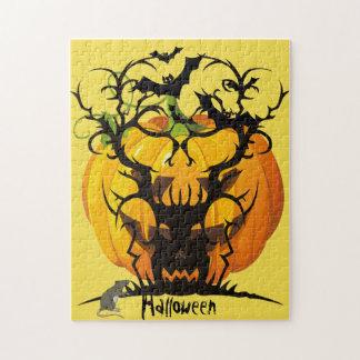 Gespenstischer Baum Halloweens Puzzle