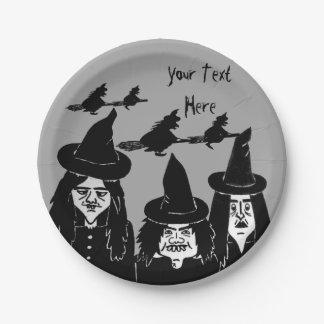 gespenstischer beängstigender Halloween-Entwurf Pappteller