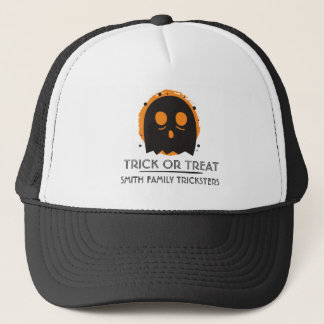 Gespenstischer Geist-Trick oder Leckerei. Addieren Truckerkappe