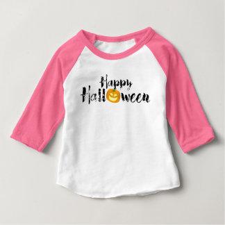 Gespenstischer glücklicher Halloween-Text mit Baby T-shirt