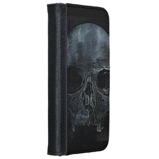 Gespenstischer gotischer Knochen Halloweens iPhone 6/6s Geldbeutel Hülle