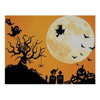 Gespenstischer Spaß Halloweens Postkarte