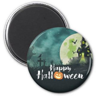 Gespenstischer Spuk Haus-Kostüm-Nachthimmel Runder Magnet 5,7 Cm
