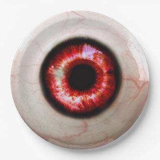 Gespenstisches Auge - Halloween Pappteller