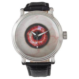 Gespenstisches Auge - Halloween Uhr