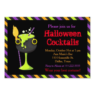 Gespenstisches Cocktail-Party Halloweens 12,7 X 17,8 Cm Einladungskarte