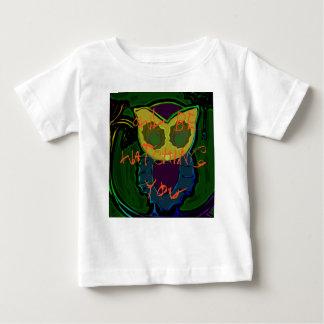 Gespenstisches Eulen-Baby-T-Stück Baby T-shirt
