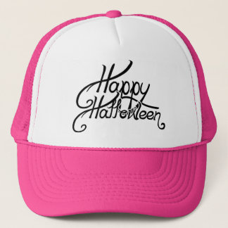 Gespenstisches festliches glückliches Halloween Truckerkappe