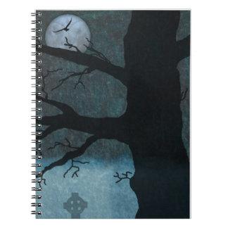 Gespenstisches Friedhofs-Notizbuch Spiral Notizblock