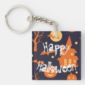 Gespenstisches Haus Halloweens schlägt Schlüsselanhänger