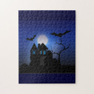 Gespenstisches Moonlit Spuk Haus-Puzzlespiel Puzzle