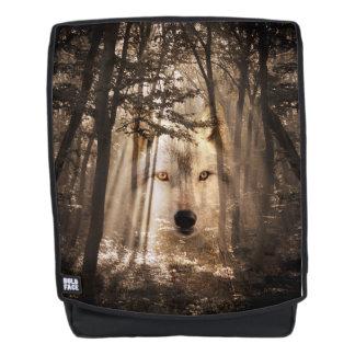 Gespenstisches Wolf-Gesicht Rucksack