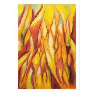 Gespitzte Flammen (abstrakter Expressionismus) Postkarte