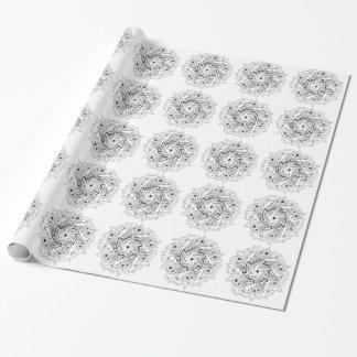 Gesponnene Mandala Geschenkpapier