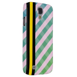 gesponnene Vintage und schwarze gelbe Linie HTC Galaxy S4 Hülle