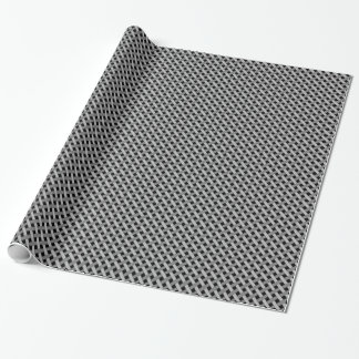 Gesponnenes/Flechtweide-Blick Muster im Schwarzen Geschenkpapier