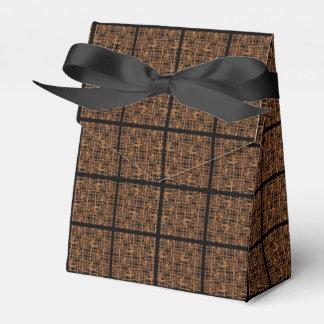 Gesponnenes Motiv betonte schwarzes Band Geschenkschachtel