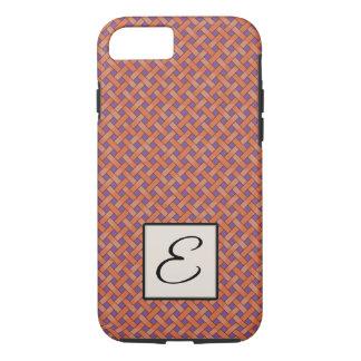Gesponnenes orange Rattan auf kundenspezifischem iPhone 8/7 Hülle