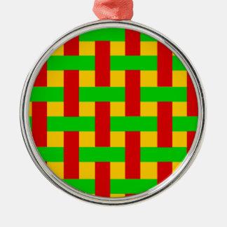 Gesponnenes Rasta Silbernes Ornament