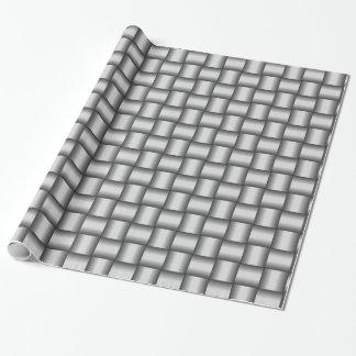 Gesponnenes silbernes metallisches geschenkpapier