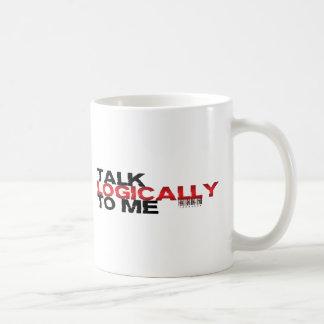 Gespräch logisch zu mir kaffeetasse